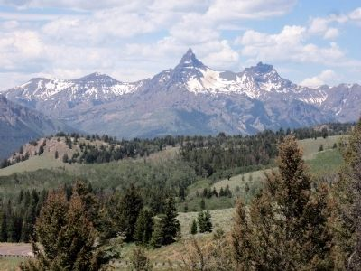Pilot Peak in Wyoming on Beartooth Hwy west of the marker. image. Click for full size.