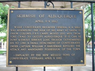 Skirmish of Albuquerque Marker image. Click for full size.