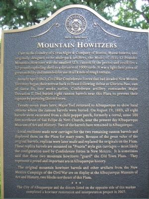 Mountain Howitzers Marker image. Click for full size.
