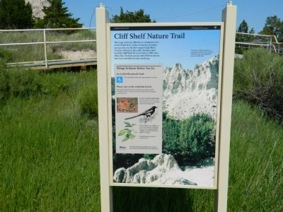 Cliff Shelf Nature Trail Marker image. Click for full size.