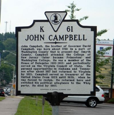 John Campbell Marker image. Click for full size.