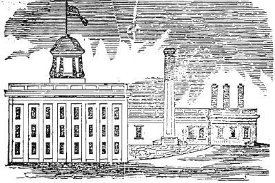 Engraving of the Palmetto Armory image. Click for full size.