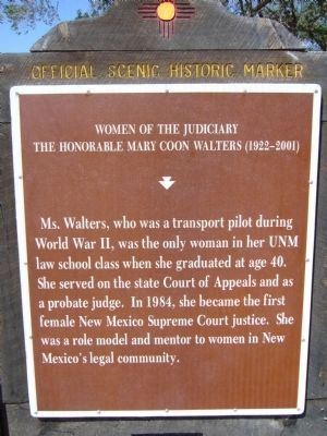 The Honorable Mary C. Walters Marker Photo, Click for full size