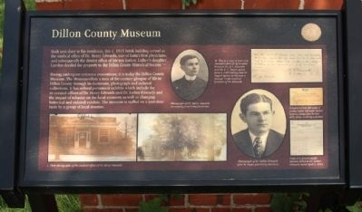 Dillon County Museum Marker image. Click for full size.