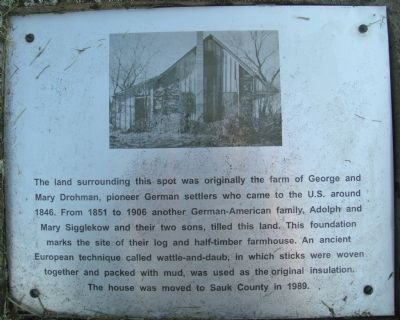 Drohman Farm Marker image. Click for full size.