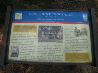 West Point Truce Line Marker image. Click for full size.