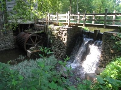 Reconstructed 1778 gristmill image. Click for full size.