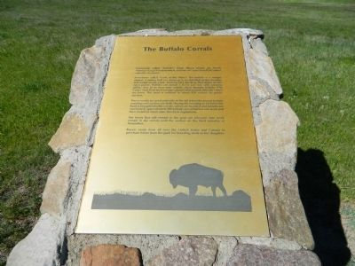 The Buffalo Corrals Marker image. Click for full size.