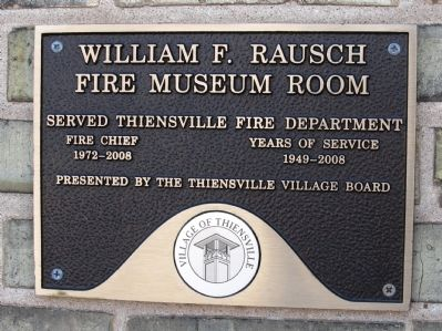 William F. Rausch Fire Museum Room image. Click for full size.