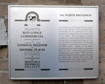 105 North Broadway Marker image. Click for full size.