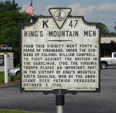 King's Mountain Men Marker image. Click for full size.
