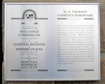 W. A. Talmage Company Hardware Marker image. Click for full size.