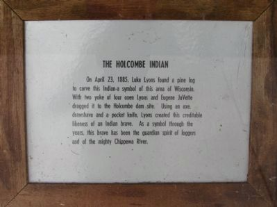 The Holcombe Indian Plaque Photo, Click for full size