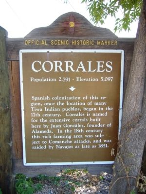 Corrales Marker image. Click for full size.