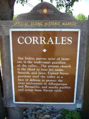 <i>Rear of </i>Corrales Marker image. Click for full size.