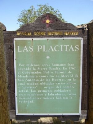 <i>rear of</i> Las Placitas Marker image. Click for full size.