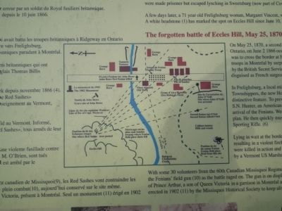 Battle of Eccles Hill interpretive panel image. Click for full size.