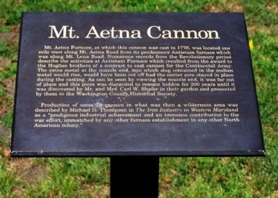 Mt. Aetna Cannon Marker Photo, Click for full size