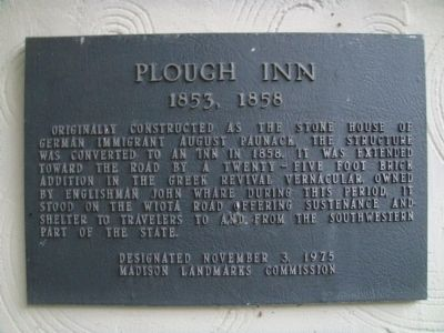 Plough Inn Marker image. Click for full size.