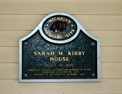 Sarah M. Kirby House Marker image. Click for full size.