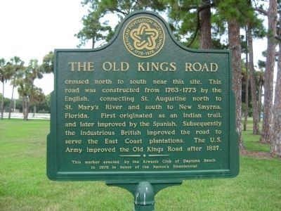 The Old Kings Road Marker image. Click for full size.