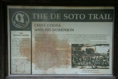 The De Soto Trail Marker / Chief Coosa And His Dominion (Side B) image. Click for full size.