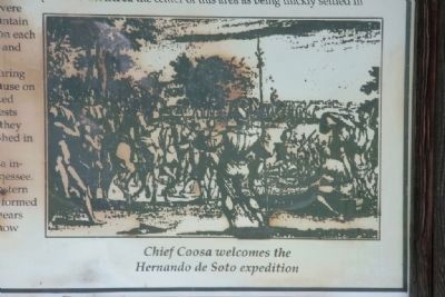 Chief Coosa welcomes the Hernando de Soto expedition. image. Click for full size.