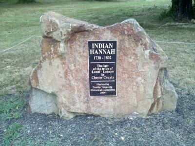 Indian Hannah Burial Site Marker Photo, Click for full size
