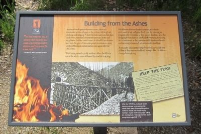 Building From the Ashes Marker image. Click for full size.