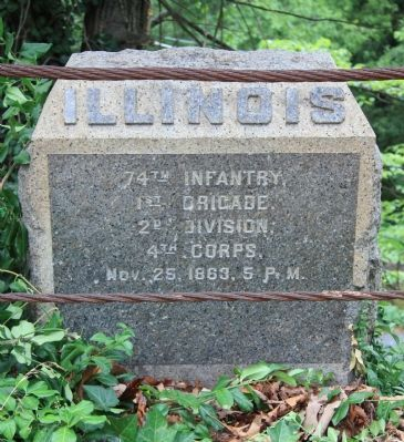 74th Illinois Monument image. Click for full size.