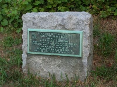 Hamilton Glass House Marker image. Click for full size.