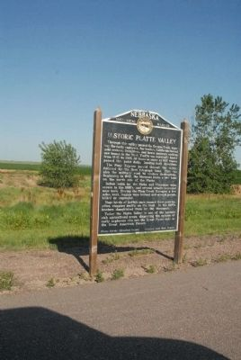 Historic Platte Valley Marker image. Click for full size.