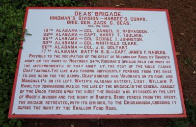 Deas' Brigade Marker image. Click for full size.
