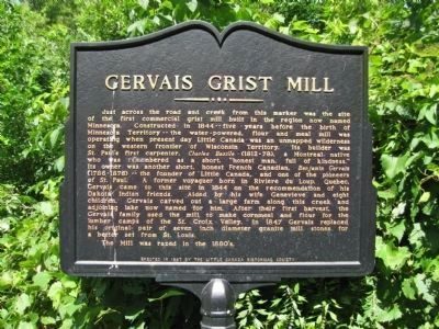 Gervais Grist Mill Marker image. Click for full size.