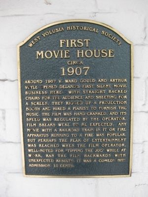 First Movie House Marker image. Click for full size.