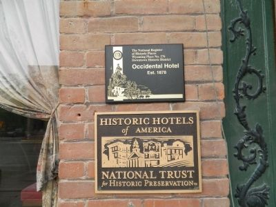 Occidental Hotel Marker image. Click for full size.