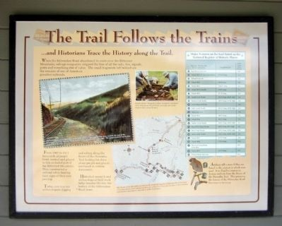 The Trail Follows the Trains Marker image. Click for full size.