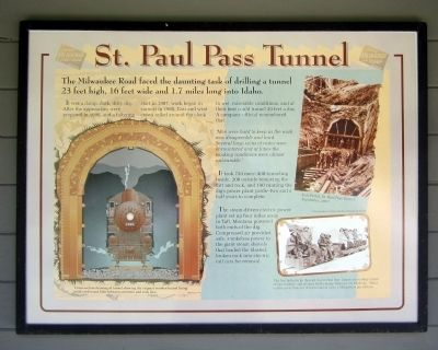 St. Paul Pass Tunnel Marker image. Click for full size.