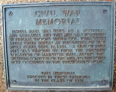 Battle of Blue Mills Landing - Civil War Memorial Marker image. Click for full size.