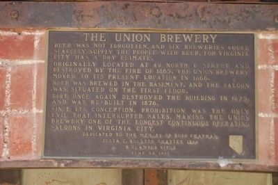 The Union Brewery Marker image. Click for full size.