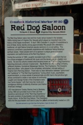 Red Dog Saloon Marker image. Click for full size.