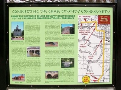 Connecting the Chase County Community Marker image. Click for full size.
