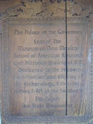 The Palace of the Governors Marker image. Click for full size.