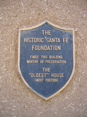 "The ""Oldest"" House Marker image. Click for full size."