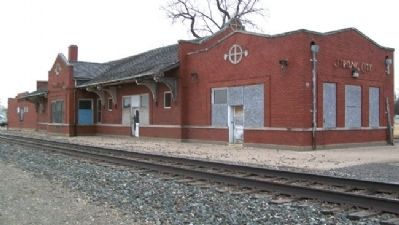 Former Santa Fe Depot, Strong City image. Click for full size.