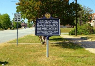 Saint John African Methodist Episcopal Church Marker Photo, Click for full size