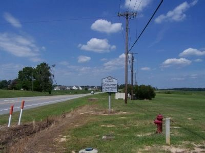 Cornwallis Marker, looking north along Raleigh Road (NC 97) image. Click for full size.
