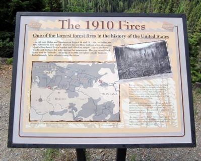 The 1910 Fires Marker image. Click for full size.