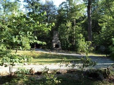 Marker and Outdoor Fireplace at Rapidan Camp image. Click for full size.