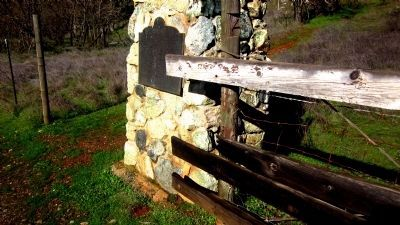 Old Coulterville Yosemite Road Marker Photo, Click for full size